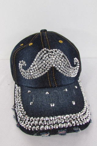 New Women Men Baseball Cap Fashion Hat MUSTACHE Denim - alwaystyle4you - 1