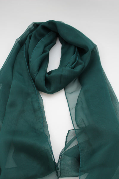 Dark Brown Dark Green Dark Blue Brown Neck Scarf Long Soft Sheer Fabric Tie Wrap Classic New Women Fashion - alwaystyle4you - 19
