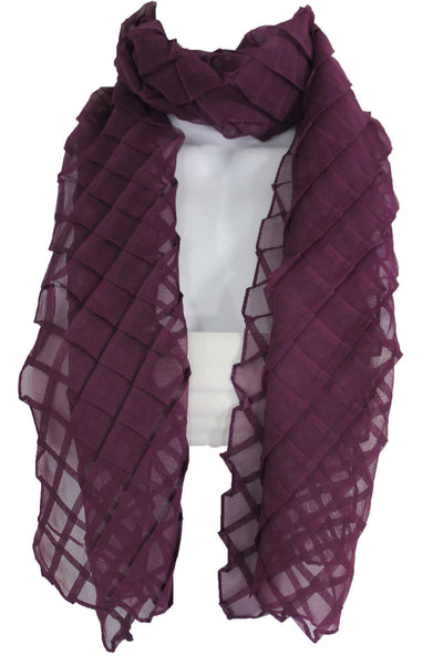 Blue Purple Green Red White Brown New Women Fashion Long Neck Scarf Soft Fabric Tie Wrap Geometric Mosaic Plaid - alwaystyle4you - 20