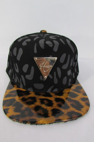 Black Brown New Women Men Baseball Cap Fashion Hat LEOPARD Print - alwaystyle4you - 2