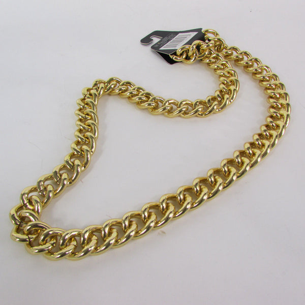 Gold Hip Hop Metal Thick Chains Extra Long Necklace New Men Women Chunky Gangster Fashion - alwaystyle4you - 7