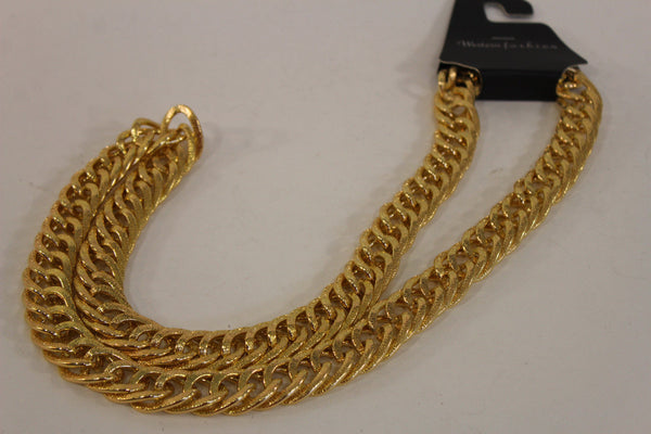 Gold Metal Chain Links Extra Long Necklace New Men Chunky Gangster Hip Hop Biker Fashion - alwaystyle4you - 12
