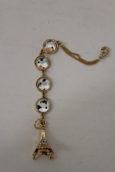 Gold Eiffel Tower Back Pendant Necklace Metal Chains New Women Fashion Jewelry - alwaystyle4you - 6