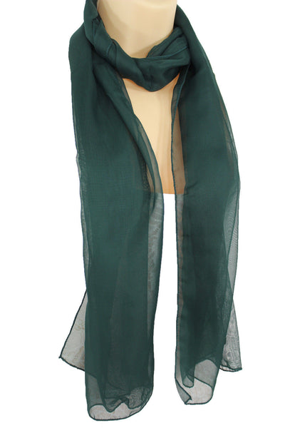 Dark Brown Dark Green Dark Blue Brown Neck Scarf Long Soft Sheer Fabric Tie Wrap Classic New Women Fashion - alwaystyle4you - 21