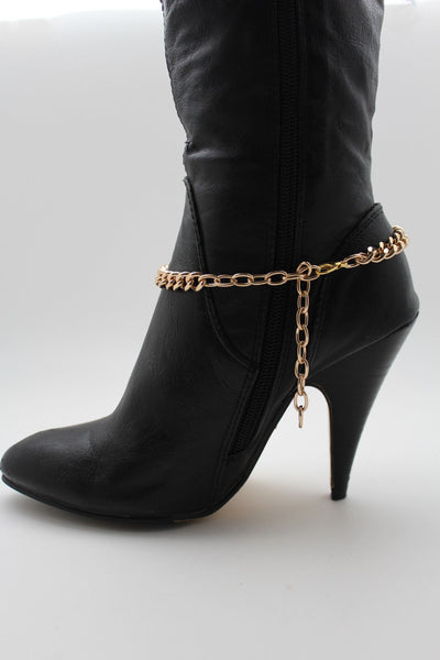 Silver Gold Metal Plate Chain Mini Skulls Bling Anklet Shoe Charm New Women Boot Bracelet Jewelry - alwaystyle4you - 21