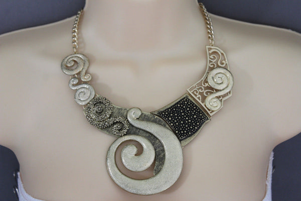 Gold Silver Copper Metal Chain Snail PendantNecklace New Women Fashion + Earrings Set - alwaystyle4you - 23
