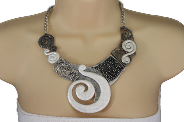 Gold Silver Copper Metal Chain Snail PendantNecklace New Women Fashion + Earrings Set - alwaystyle4you - 25