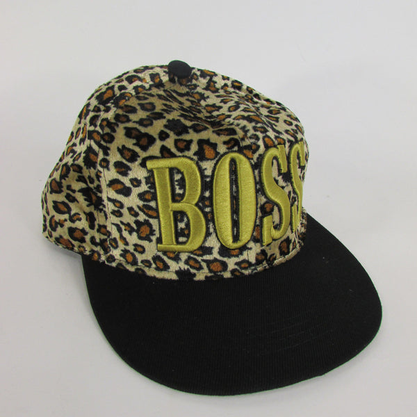 Gold Black / White Black New Women / Men Denim Black Baseball Cap Fashion BOSS Hat Animal Print Leopard - alwaystyle4you - 7