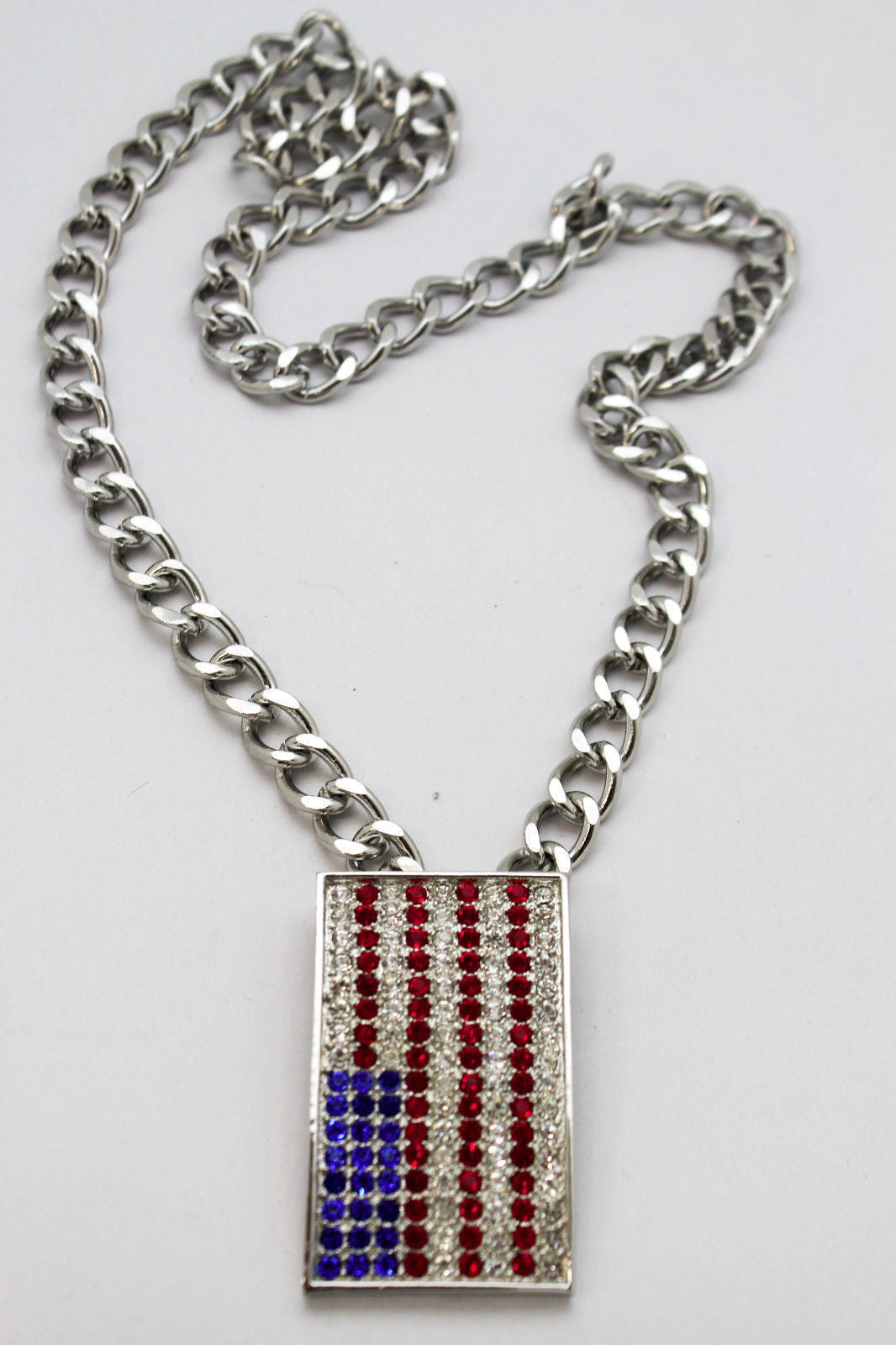 mens wholesale stars chain tag dog usa silver freedom necklace jewelry stripes pendant patriot flag classical product stone american gold and rectangle