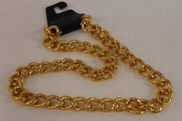 Chunky Metal Thick Chain Links Heavy Long Necklace Gold Hip Hop New Men Biker Fashion - alwaystyle4you - 12