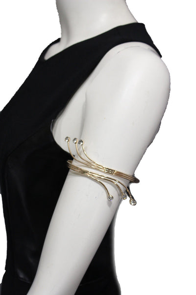 Gold Metal Cuff High Arm Bracelet Wrap Around Retro Silver New Women  Fashion Accessories Jewelry - alwaystyle4you - 7
