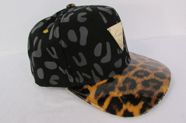 Black Brown New Women Men Baseball Cap Fashion Hat LEOPARD Print - alwaystyle4you - 3
