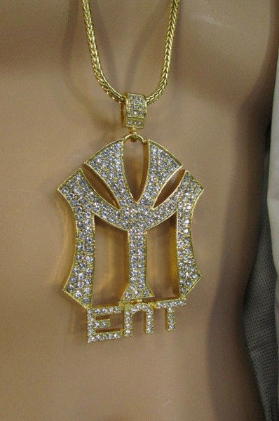 Gold Silver Metal Chains Long Fashion Necklace Large MY ENT Pendant New Men Biker Fashion - alwaystyle4you - 39