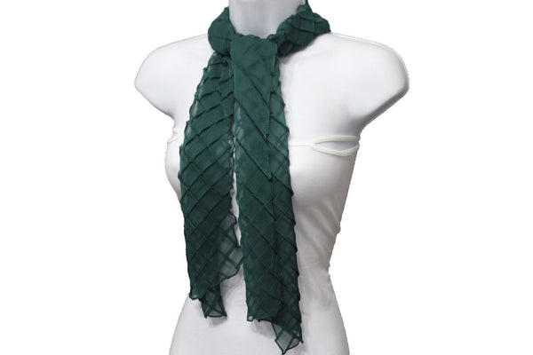 Blue Purple Green Red White Brown New Women Fashion Long Neck Scarf Soft Fabric Tie Wrap Geometric Mosaic Plaid - alwaystyle4you - 62