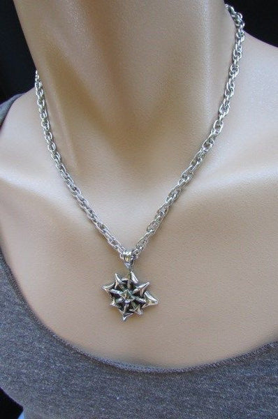 Chic Trendy Style Silver Chain Necklace Trible Pendant New Men Fashion #4 - alwaystyle4you - 7