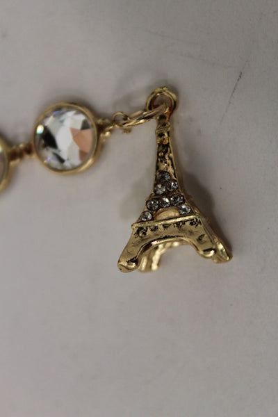 Gold Eiffel Tower Back Pendant Necklace Metal Chains New Women Fashion Jewelry - alwaystyle4you - 8
