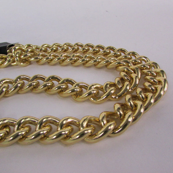 Gold Hip Hop Metal Thick Chains Extra Long Necklace New Men Women Chunky Gangster Fashion - alwaystyle4you - 9