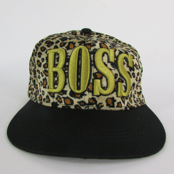 Gold Black / White Black New Women / Men Denim Black Baseball Cap Fashion BOSS Hat Animal Print Leopard - alwaystyle4you - 8