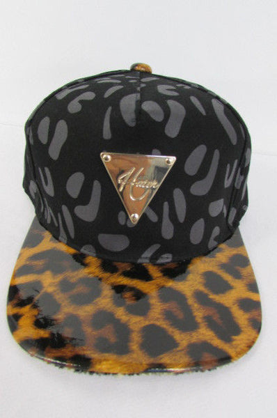 Black Brown New Women Men Baseball Cap Fashion Hat LEOPARD Print - alwaystyle4you - 4