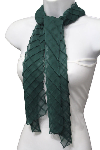 Blue Purple Green Red White Brown New Women Fashion Long Neck Scarf Soft Fabric Tie Wrap Geometric Mosaic Plaid - alwaystyle4you - 64