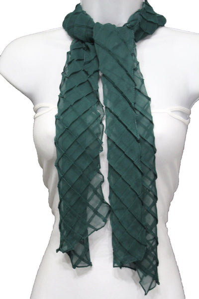 Blue Purple Green Red White Brown New Women Fashion Long Neck Scarf Soft Fabric Tie Wrap Geometric Mosaic Plaid - alwaystyle4you - 70