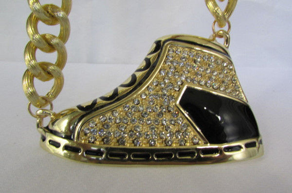Long Gold Necklace Basketball Sneaker Tennis Shoe Pendant Hip Pop New Men Design - alwaystyle4you - 10