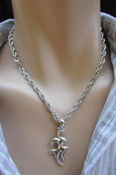 Chic Trendy Style Silver Chain Necklace Trible Pendant New Men Fashion #1 - alwaystyle4you - 9