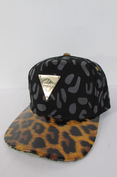 Black Brown Baseball Cap Hat LEOPARD Print New Women Men Fashion Accessories