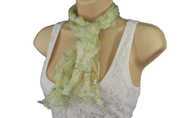 New Women Sheer Scarf Fashion Neck Wrap Long White Black Pink Blue Green Yellow - alwaystyle4you - 68