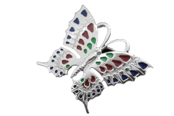 Silver Metal Belt Buckle Freedom Butterfly Animal Large Size New Fun Men Women Accessories