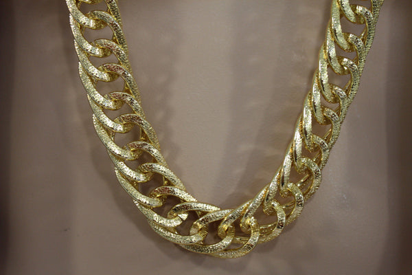 Gold Metal Chain Links Extra Long Necklace New Men Chunky Gangster Hip Hop Biker Fashion - alwaystyle4you - 7