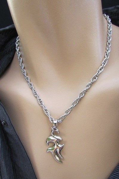 Chic Trendy Style Silver Chain Necklace Trible Pendant New Men Fashion #1 - alwaystyle4you - 11