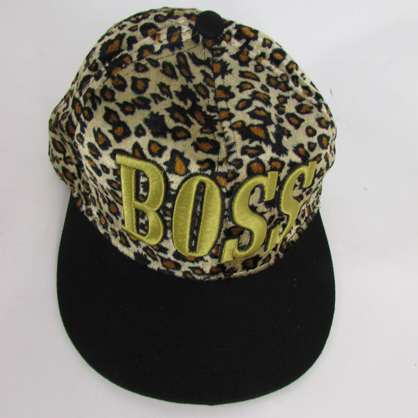 Gold Black / White Black New Women / Men Denim Black Baseball Cap Fashion BOSS Hat Animal Print Leopard - alwaystyle4you - 11