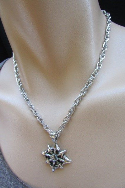 Chic Trendy Style Silver Chain Necklace Trible Pendant New Men Fashion #4 - alwaystyle4you - 10