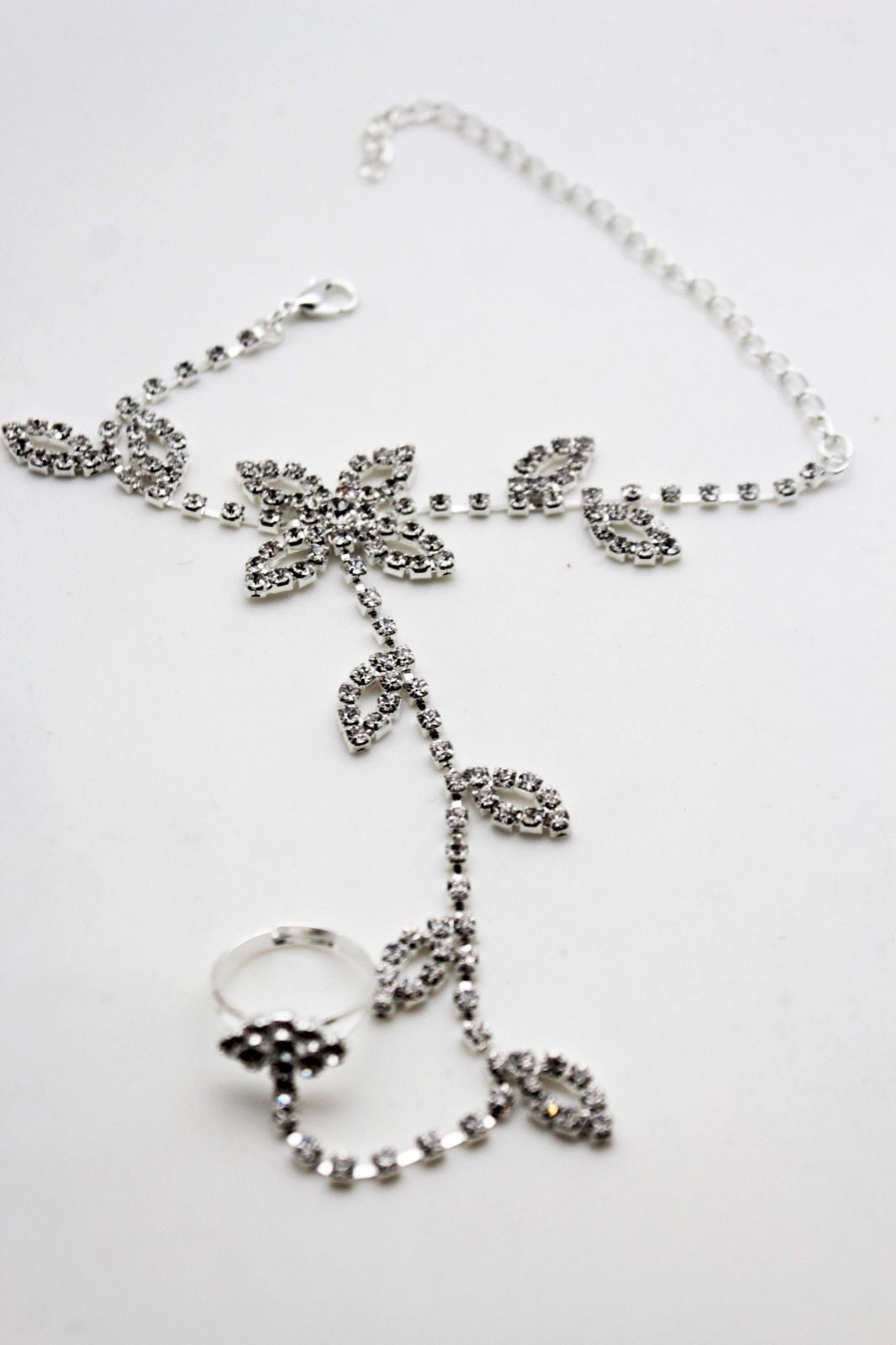 rhinestone dark necklace vintage metal multi pendant product chain silver tone flower