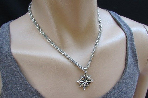 Chic Trendy Style Silver Chain Necklace Trible Pendant New Men Fashion #4 - alwaystyle4you - 11