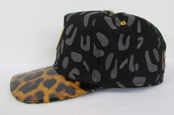 Black Brown New Women Men Baseball Cap Fashion Hat LEOPARD Print - alwaystyle4you - 8