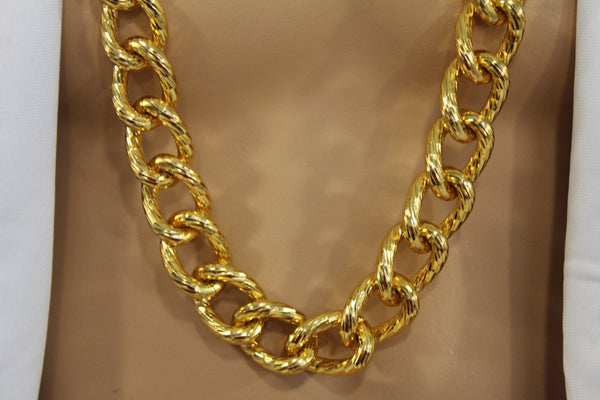Chunky Metal Thick Chain Links Heavy Long Necklace Gold Hip Hop New Men Biker Fashion - alwaystyle4you - 5
