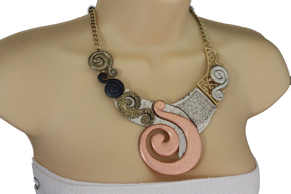 Gold Silver Copper Metal Chain Snail PendantNecklace New Women Fashion + Earrings Set - alwaystyle4you - 10