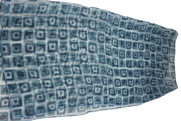 Green Blue Small Neck Scarf Fabric Geometric Square Print Pocket Square New Women Fashion - alwaystyle4you - 8