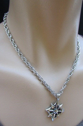 Chic Trendy Style Silver Chain Necklace Trible Pendant New Men Fashion #4 - alwaystyle4you - 1