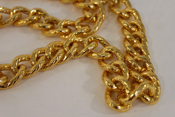 Chunky Metal Thick Chain Links Heavy Long Necklace Gold Hip Hop New Men Biker Fashion - alwaystyle4you - 6
