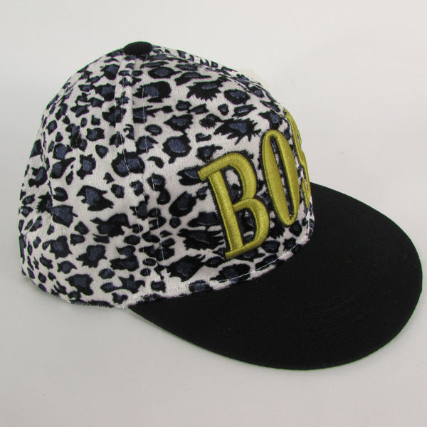 Gold Black / White Black New Women / Men Denim Black Baseball Cap Fashion BOSS Hat Animal Print Leopard - alwaystyle4you - 13