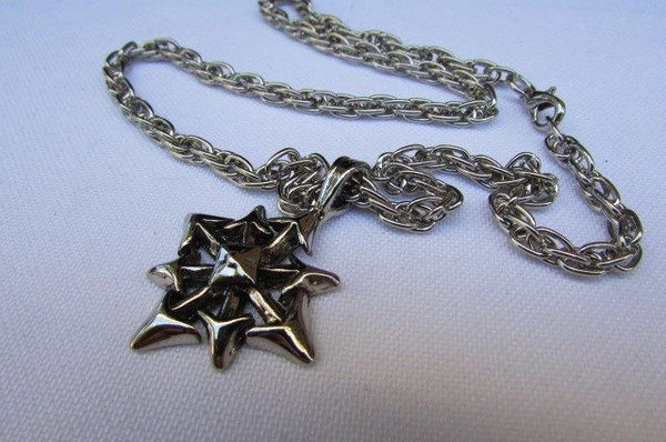 Chic Trendy Style Silver Chain Necklace Trible Pendant New Men Fashion #4 - alwaystyle4you - 2
