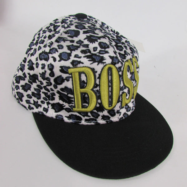 Gold Black / White Black New Women / Men Denim Black Baseball Cap Fashion BOSS Hat Animal Print Leopard - alwaystyle4you - 1