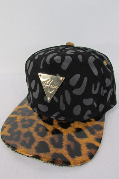 Black Brown New Women Men Baseball Cap Fashion Hat LEOPARD Print - alwaystyle4you - 10