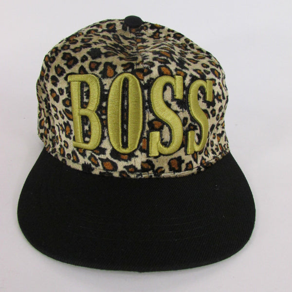 Gold Black / White Black New Women / Men Denim Black Baseball Cap Fashion BOSS Hat Animal Print Leopard - alwaystyle4you - 5