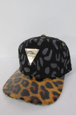 Black Brown New Women Men Baseball Cap Fashion Hat LEOPARD Print - alwaystyle4you - 1