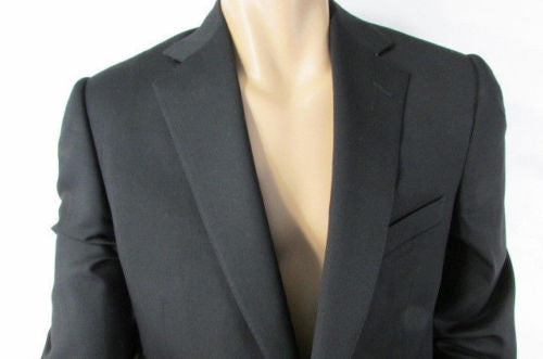 Black Elegant Classic Long Suit Jacket Trendy Ermenegildo Zegna New Men Fashion Size Large 52L