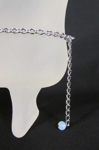 Silver Metal Boot Chains Bracelet Anklet Foot KISS Pendant Charm Chunky Rhinestones Women Accessories